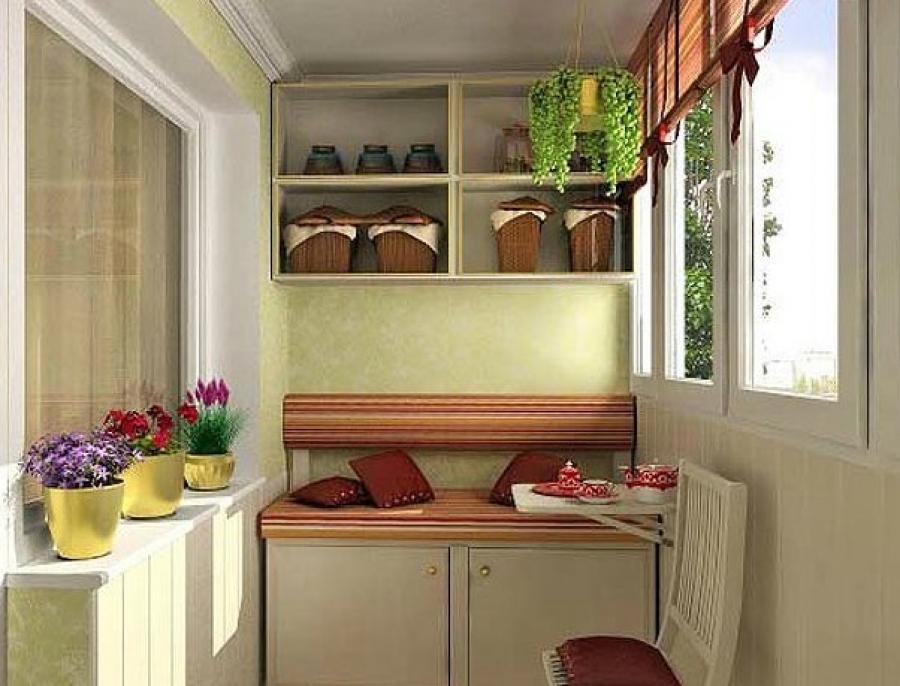 Обустройство кухни на балконе..