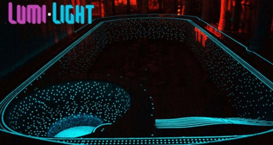 Подсветка бассейна своими руками 54